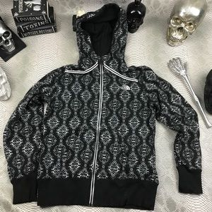 The north face warm hooded sweatshirt damask